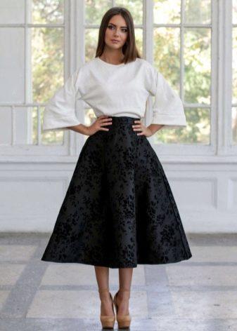 черная юбка-миди для торжества