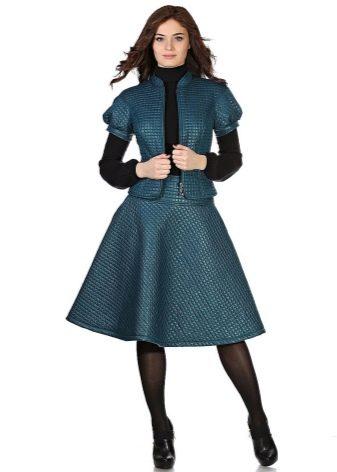 стеганая юбка-миди