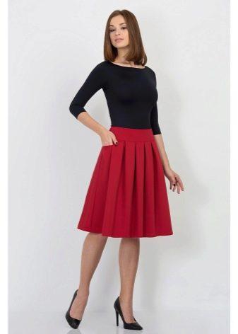 классическая пышная юбка-миди
