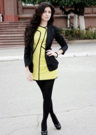 Салатовое платье с жакетом