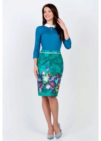 юбка-карандаш с цветочным принтом