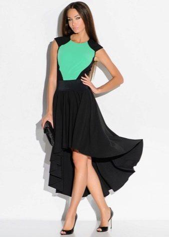 черная юбка-солнце со шлейфом