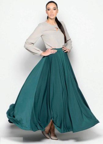 плиссированная юбка-солнце на резинке