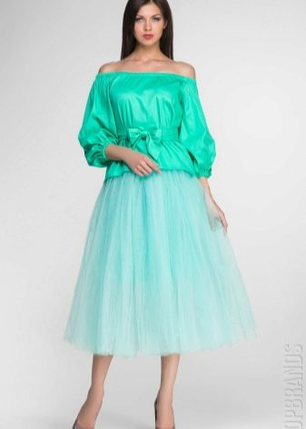 нежная юбка-солнце из фатина