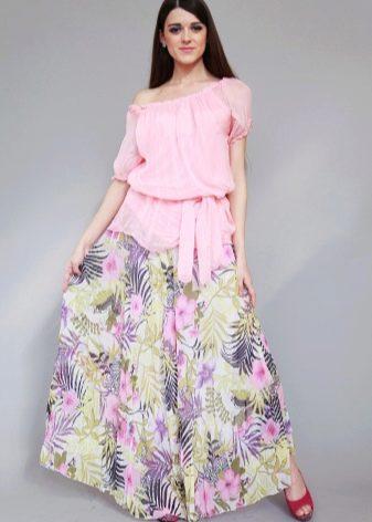 летняя юбка-солнце в пол
