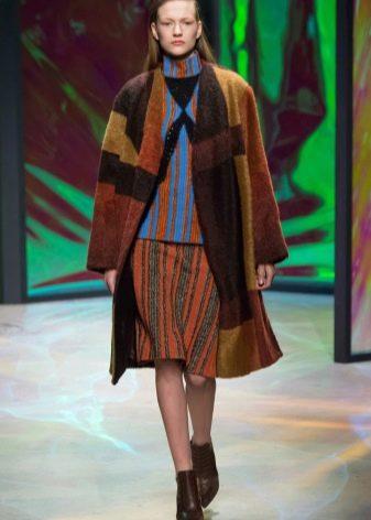 полосатая юбка для зимы