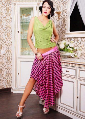 юбка на резинке низкой посадки