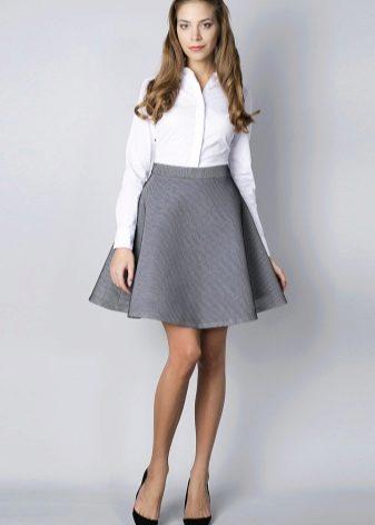 Модели юбки для невысоких