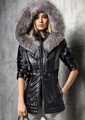 9873a9402a87 Очень часто такие куртки изготавливаются с капюшоном, который оторочен  мехом. Это придает куртке роскошный вид и дополнительное тепло.