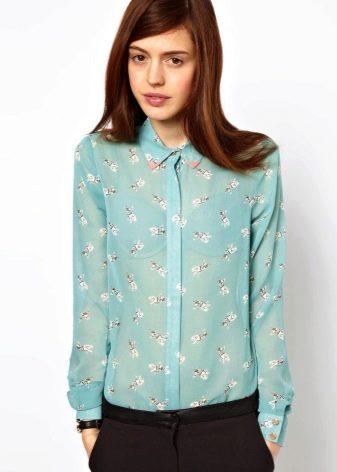 Бирюзовые блузки с чем носить фото