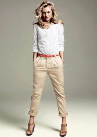 женские брюки укороченные фото