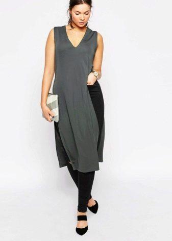 fe8675350df Длинная женская футболка с разрезами по бокам (74 фото)  футболка ...
