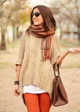 Свитер оверсайз (89 фото): с чем носить объемный свитер, свободный и большой, модные модели