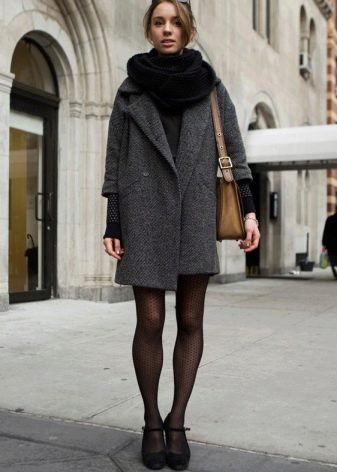 db7786e4870 Серое пальто (114 фото)  с чем носить женское пальто