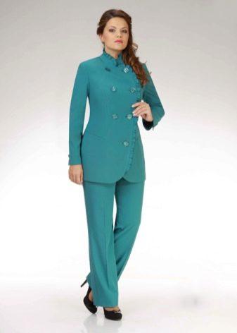 020bce6f444 Брючные костюмы больших размеров для полных женщин (90 фото ...