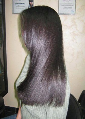 Покраска волос в тмный цвет