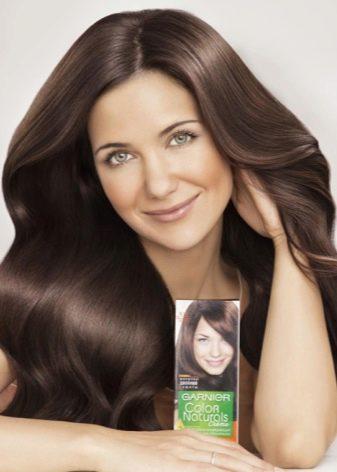 Холодный оттенок коричневого цвета волос