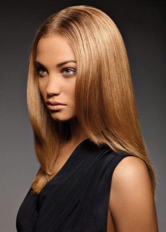 Черные корни блонд