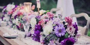 Свадьба в фиолетовых тонах: значение цвета и рекомендации по оформлению торжества