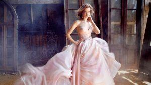 Бальные свадебные платья – очень пышный фасон для принцесс