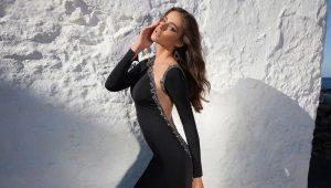 Вечерние платья с длинными рукавами в пол