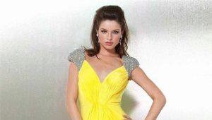 Желтые вечерние платья