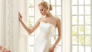 Свадебное платье А-силуэта – непышно, но элегантно