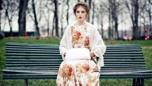 Платья в русском стиле – для яркого этнического образа