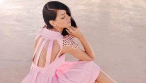 Розовое платье - для женственного образа