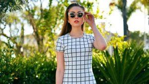 Платья в клетку – стильная классика