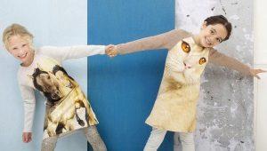 Трикотажные платья для девочек