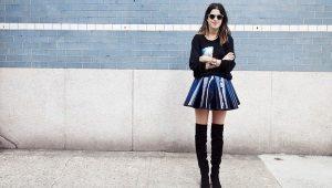 Коническая юбка - игривость в деталях
