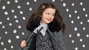 Теплые зимние платья для девочек