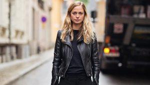 Черная кожаная куртка - популярные модели (75 фото)