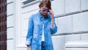 Длинные джинсовые куртки