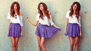Фиолетовые юбки