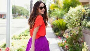 Лучшие выкройки и процесс пошива юбки-полусолнце