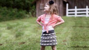 Вязаные юбки для девочек крючком