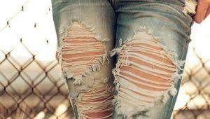 Как сделать дырявые джинсы в домашних условиях?