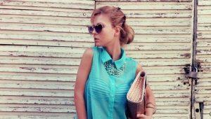 Бирюзовые блузки