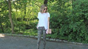 Камуфляжные женские брюки