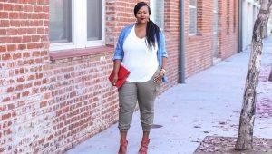 Модные брюки длиной 7/8 для полных женщин