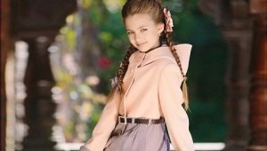 Осеннее детское пальто для девочек