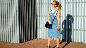 С чем носить джинсовый сарафан?