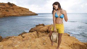 Женские пляжные шорты