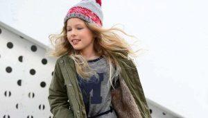 Зимняя парка для девочек-подростков