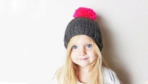 Детские шапки с помпонами