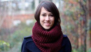Как завязать шарф-хомут?