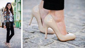 Туфли бежевого и телесного цветов