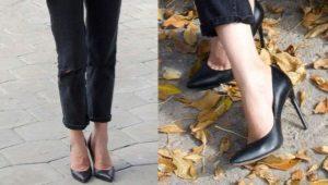 Кожаные женские туфли